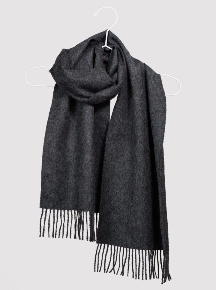 Baby alpaca scarf dark grey