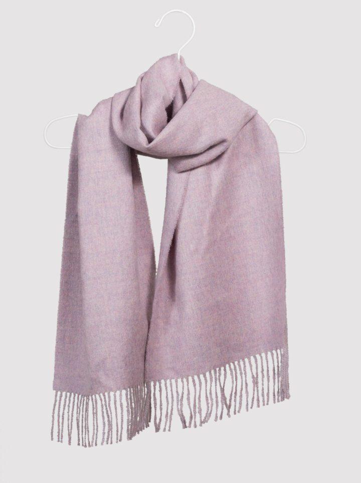 Baby alpaca scarf pink