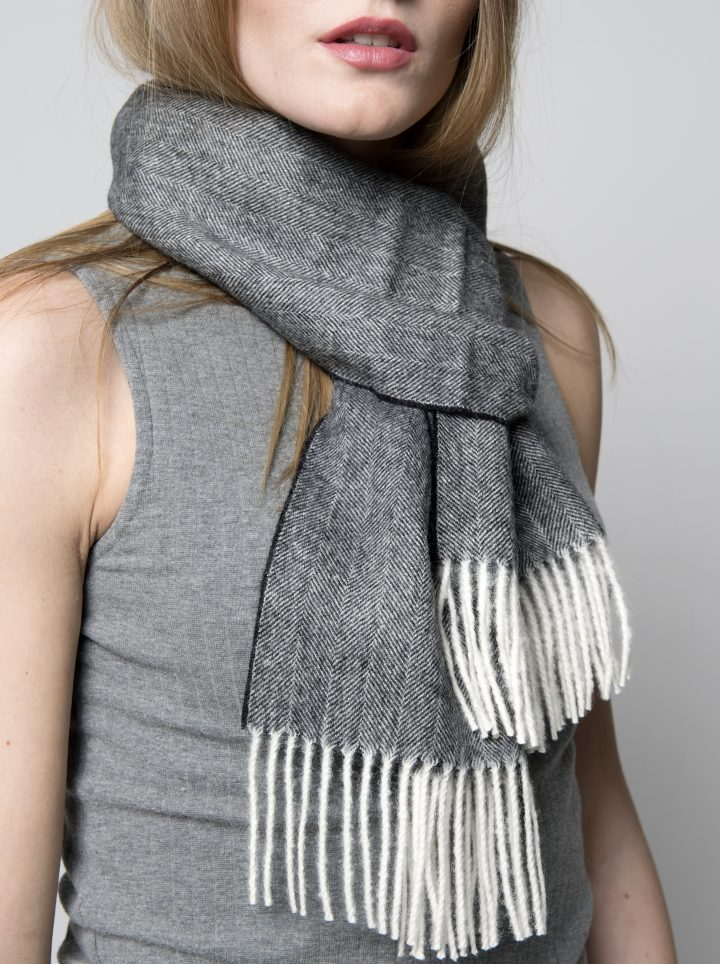 Baby alpakka scarf herr model