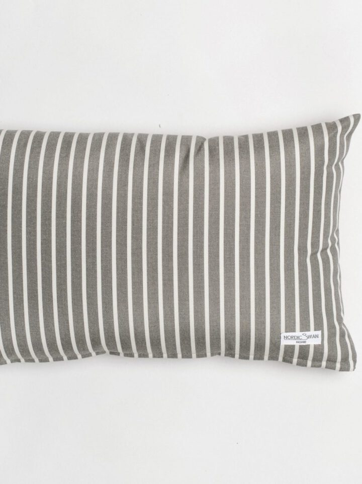 Cushion outdoor grey white
