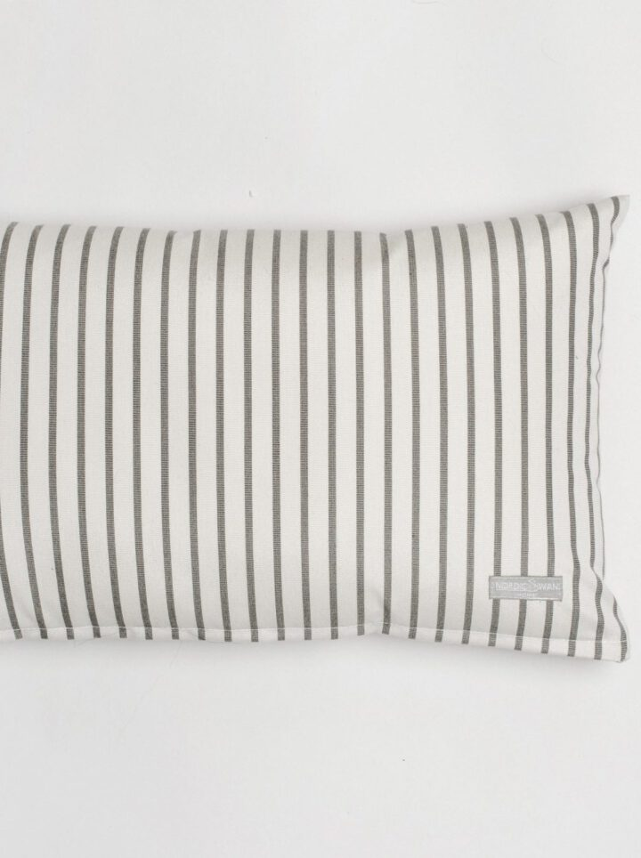 Cushion outdoor white grey