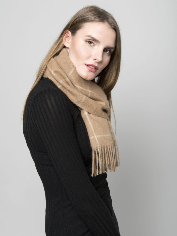 Kameli villa huivi camel scarf