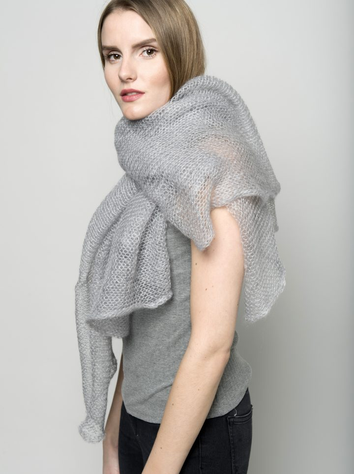 Kid mohair light model grey