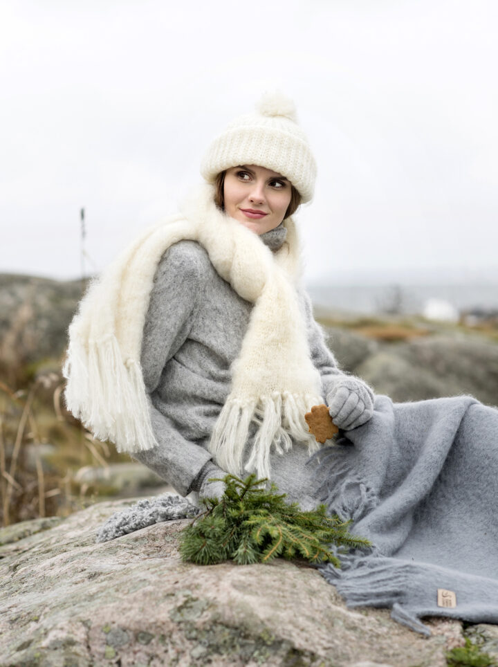 Mohair scarf huivi Nordic Swan Living