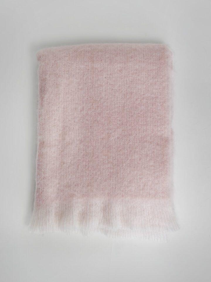 Mohair peitto vaaleanpunainen